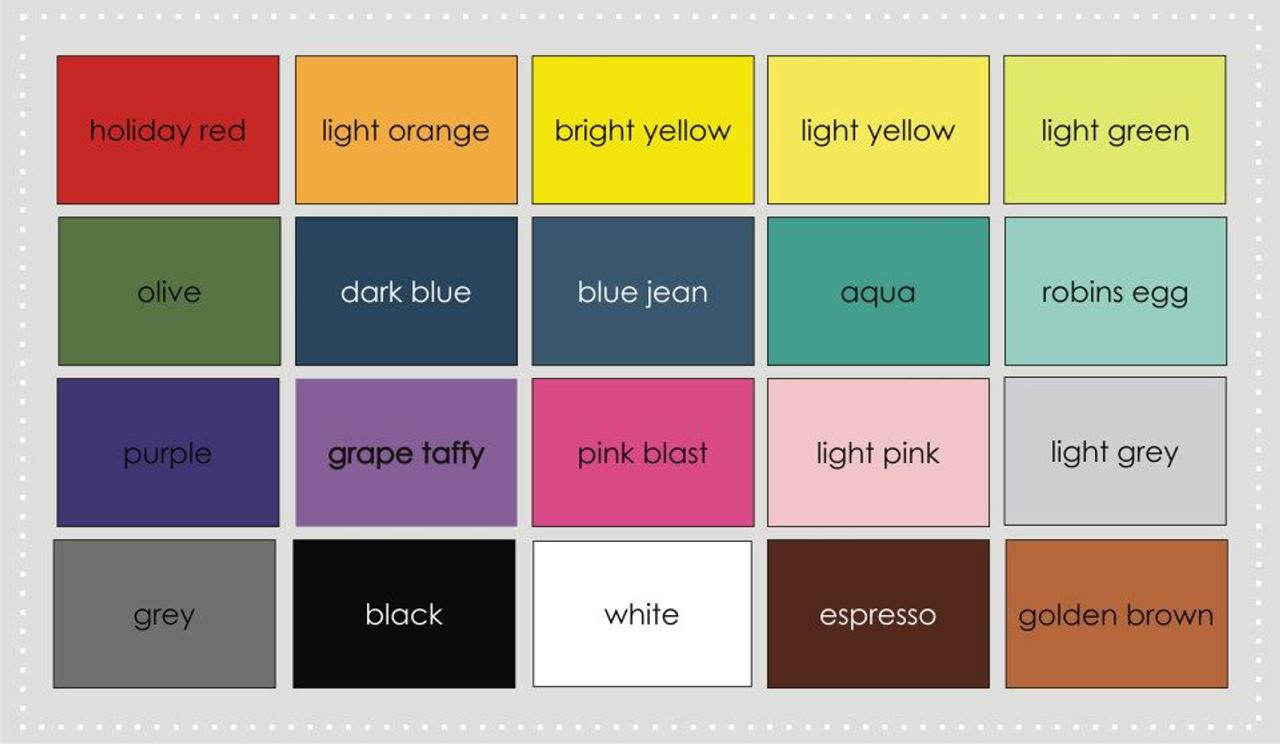 custom wood sign color chart