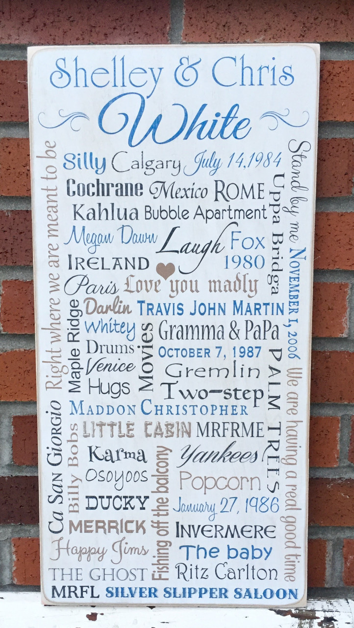 Personalized Custom Family Memories Sign