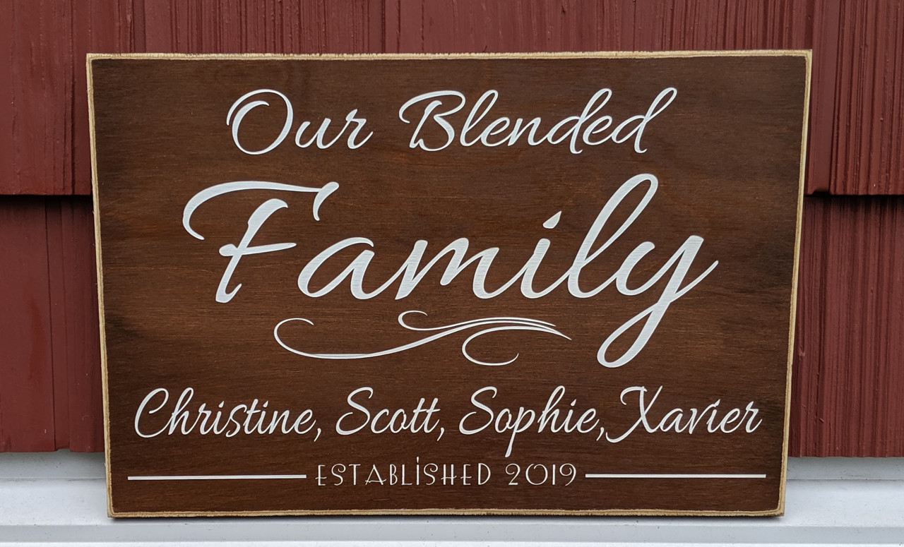 Custom blended family name sign