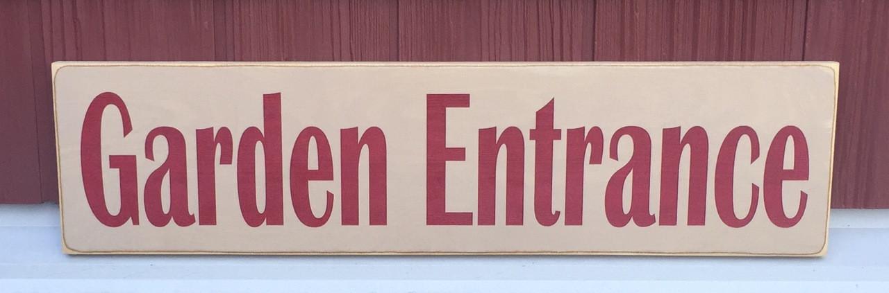 Garden Entrance Sign