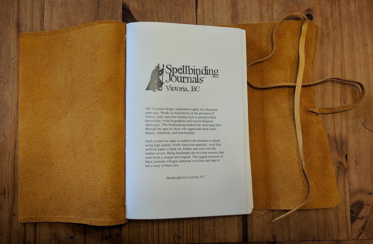 Spellbinding journals cover page