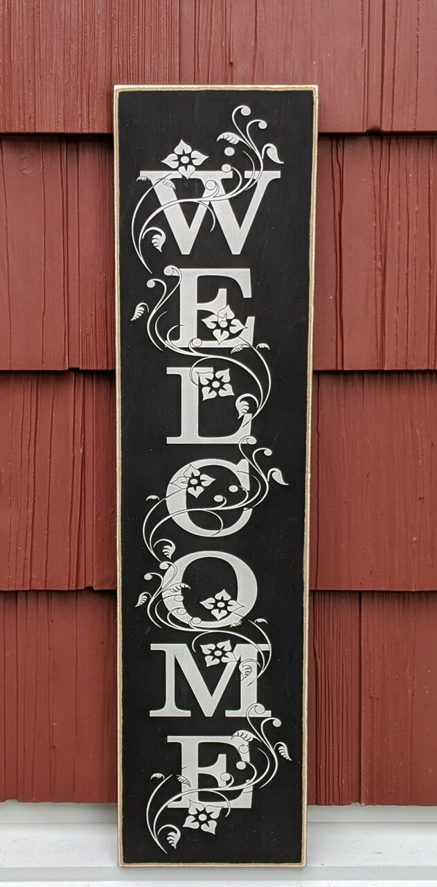 Welcome Wood Sign 6 X 24 Heartwood Gifts