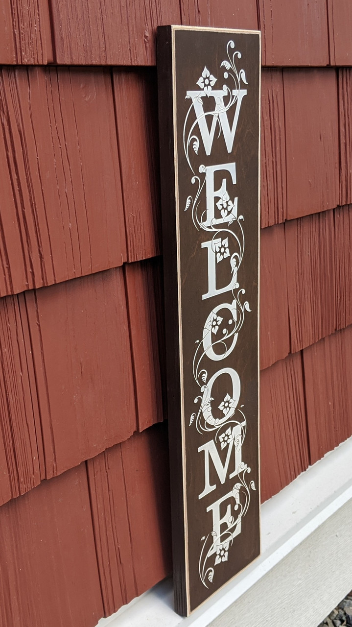 Welcome sign for house warming gift - Brown