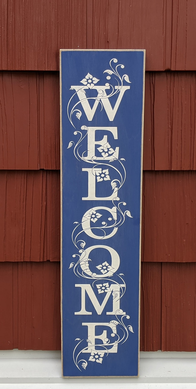 Welcome Sign - Blue
