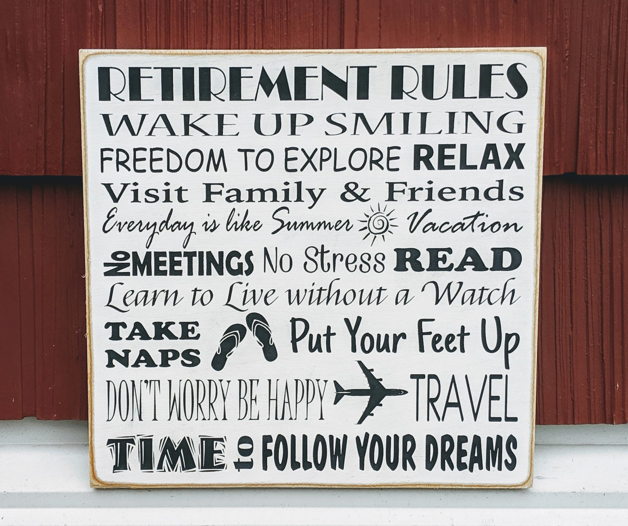 Retirement Rules Sign