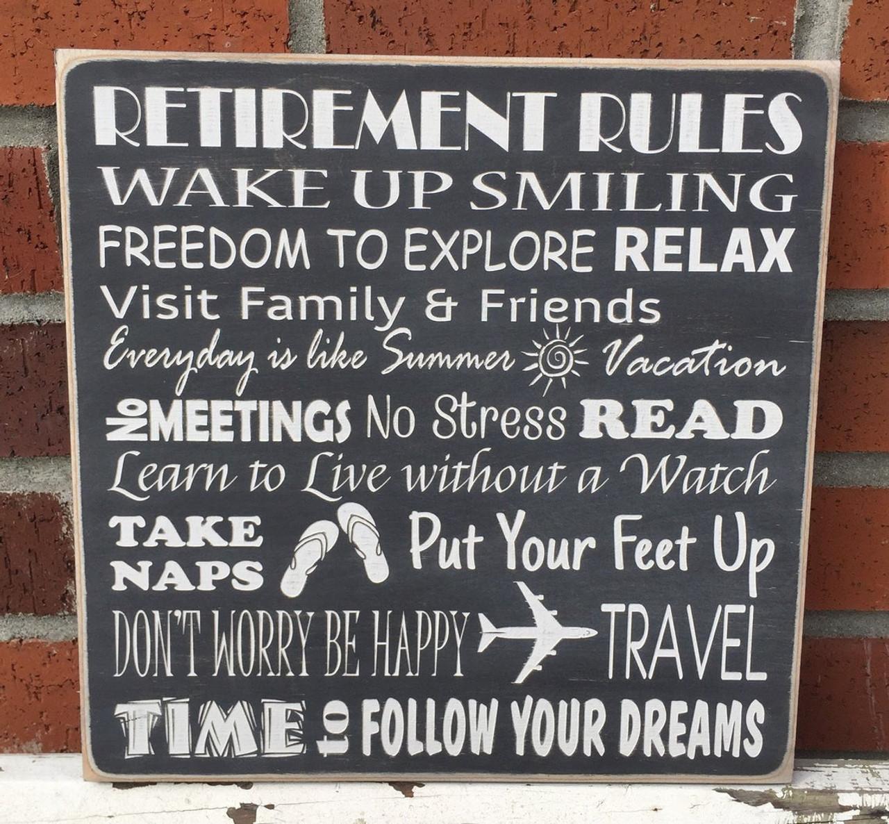 Retirement Sign Gift