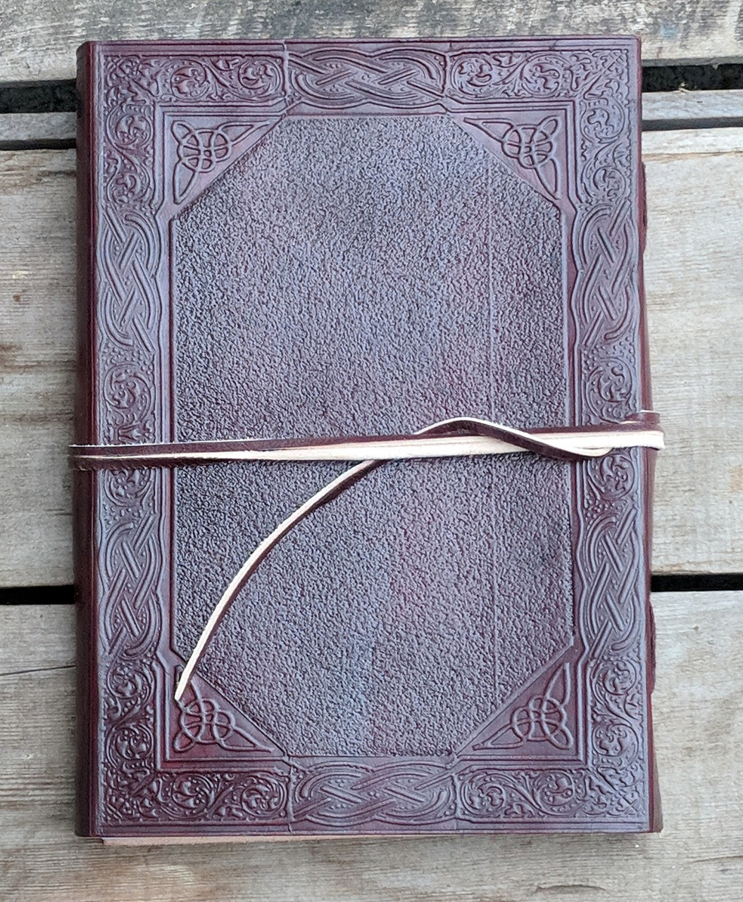 Back of Celtic Leather Journal