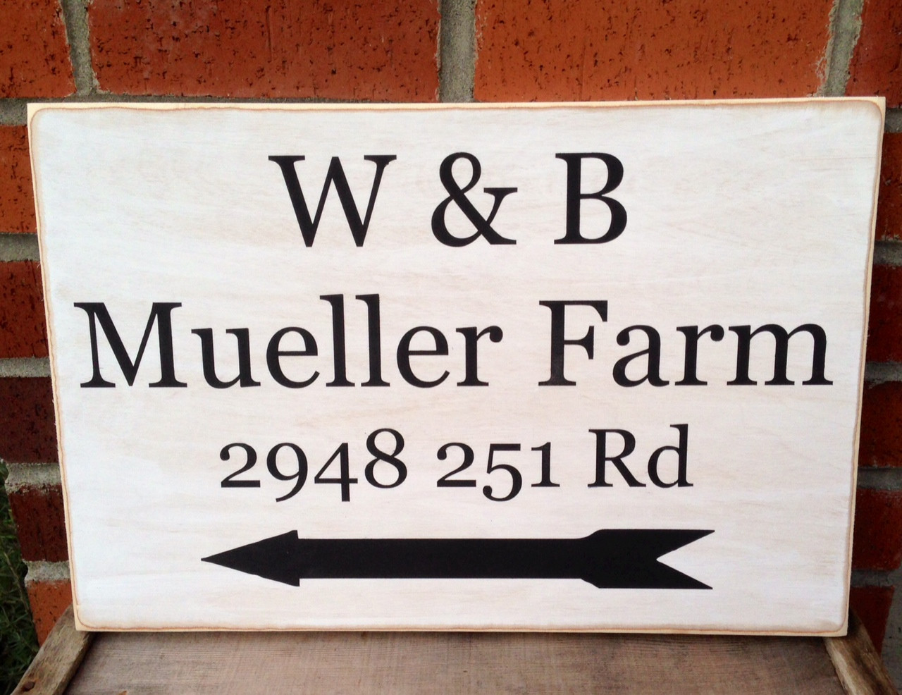 Address Sign - custom made