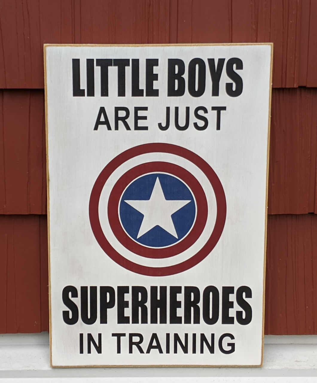 Little Boys Are Just Superheroes in Training Sign