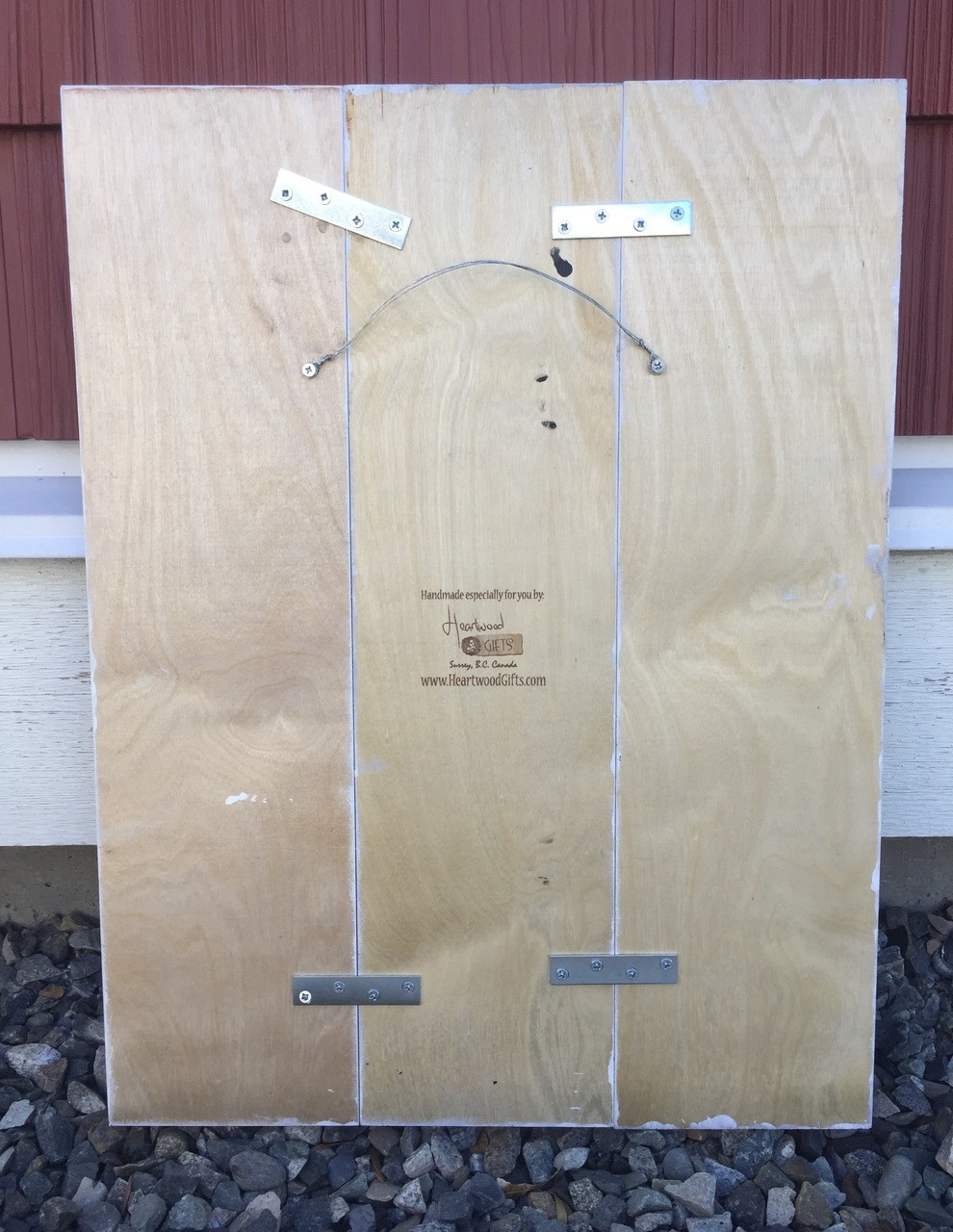 Rear view of muti board sign