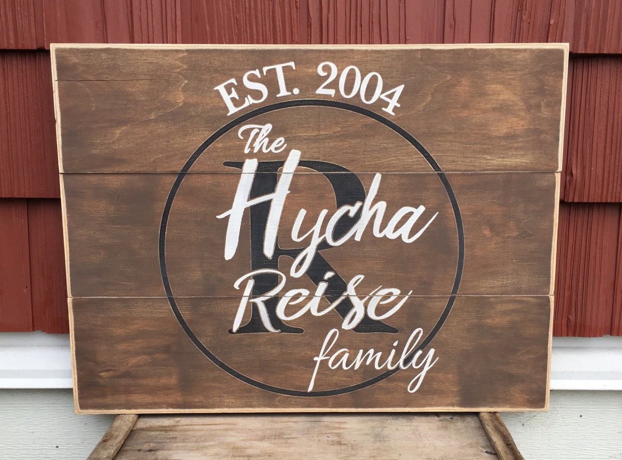 Family Sign Multi Board Rustic Wood Sign