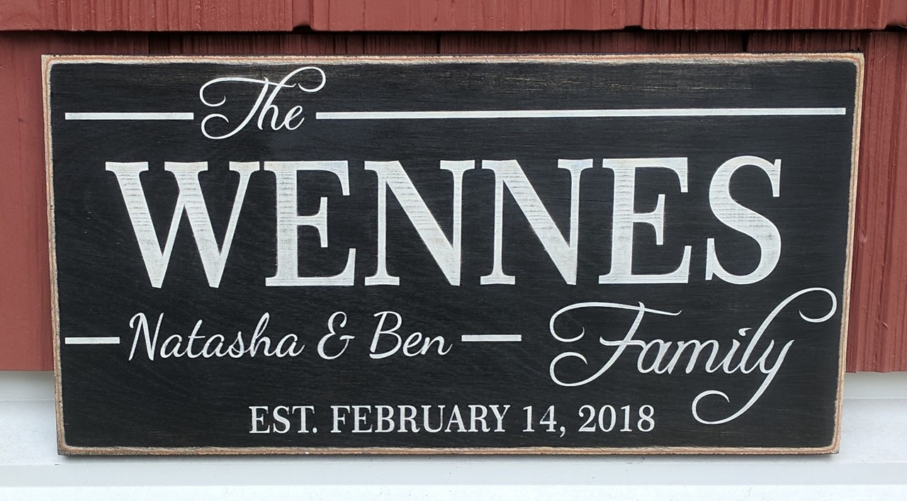 Family sign