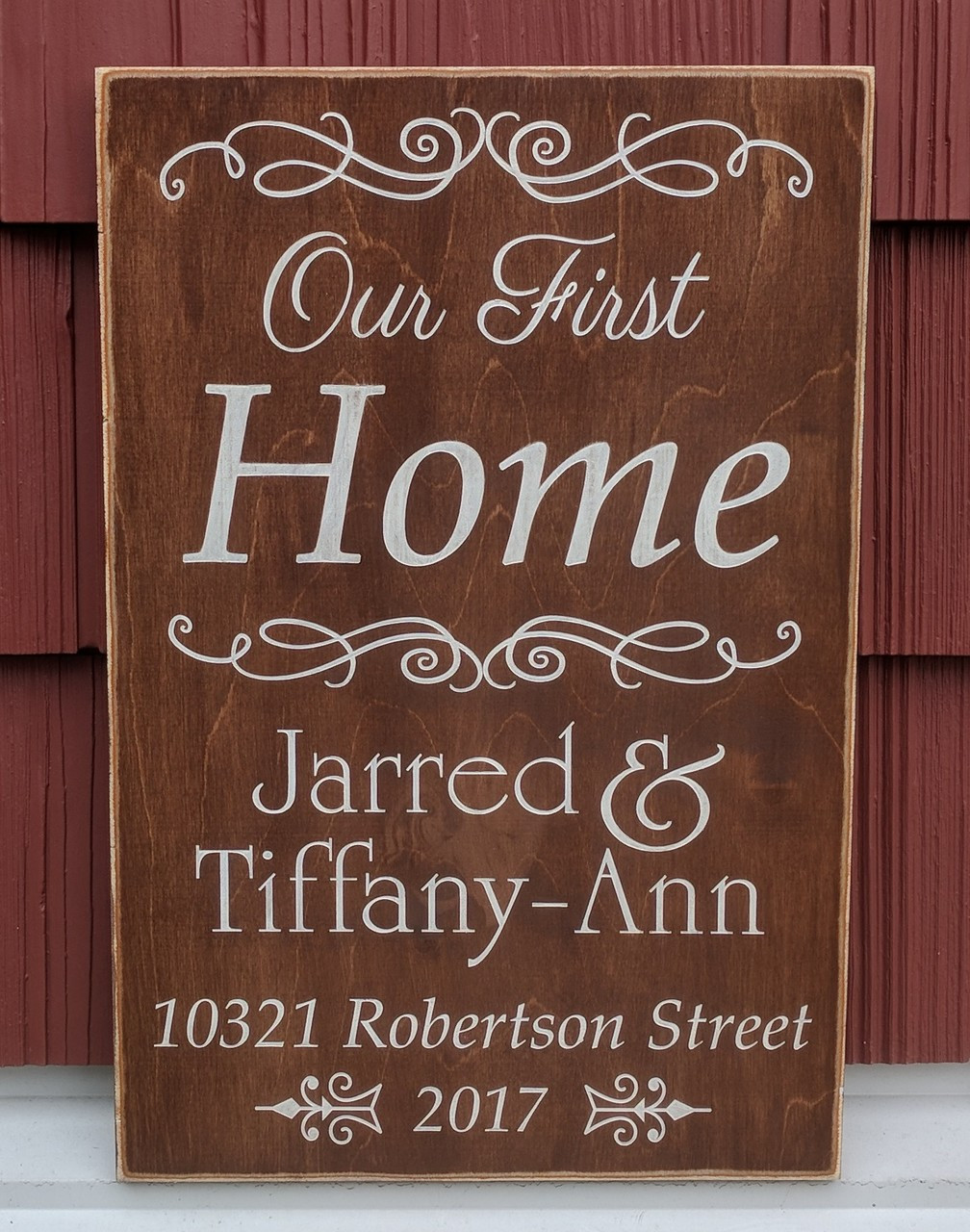 Our First Home Personalized Sign