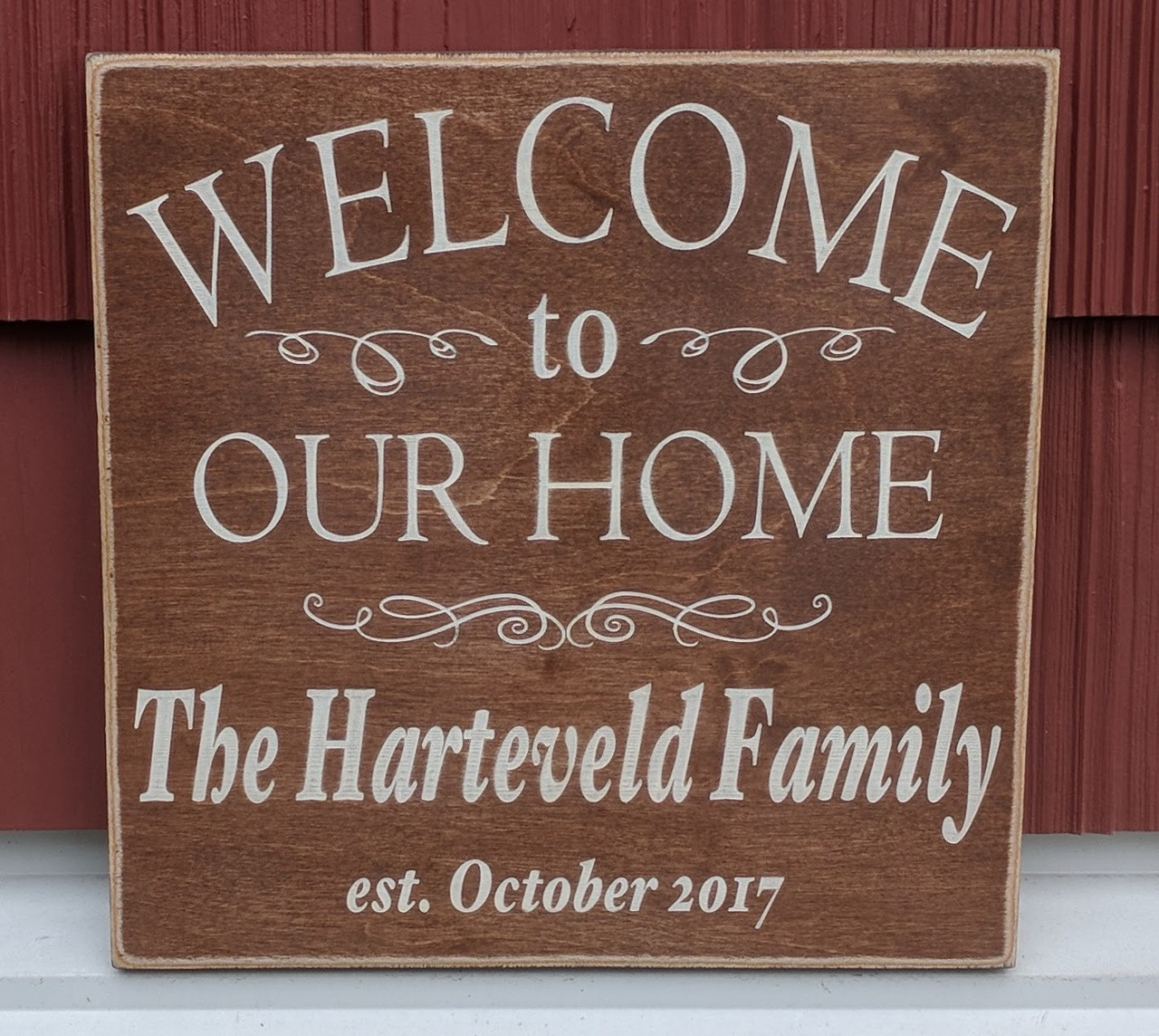 Welcome to our Home Family Sign