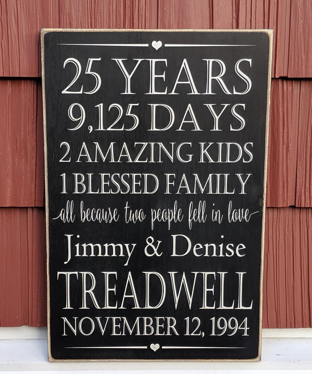 Custom Anniversary Family Name Sign