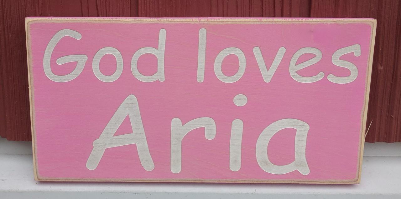 God loves - kids name sign