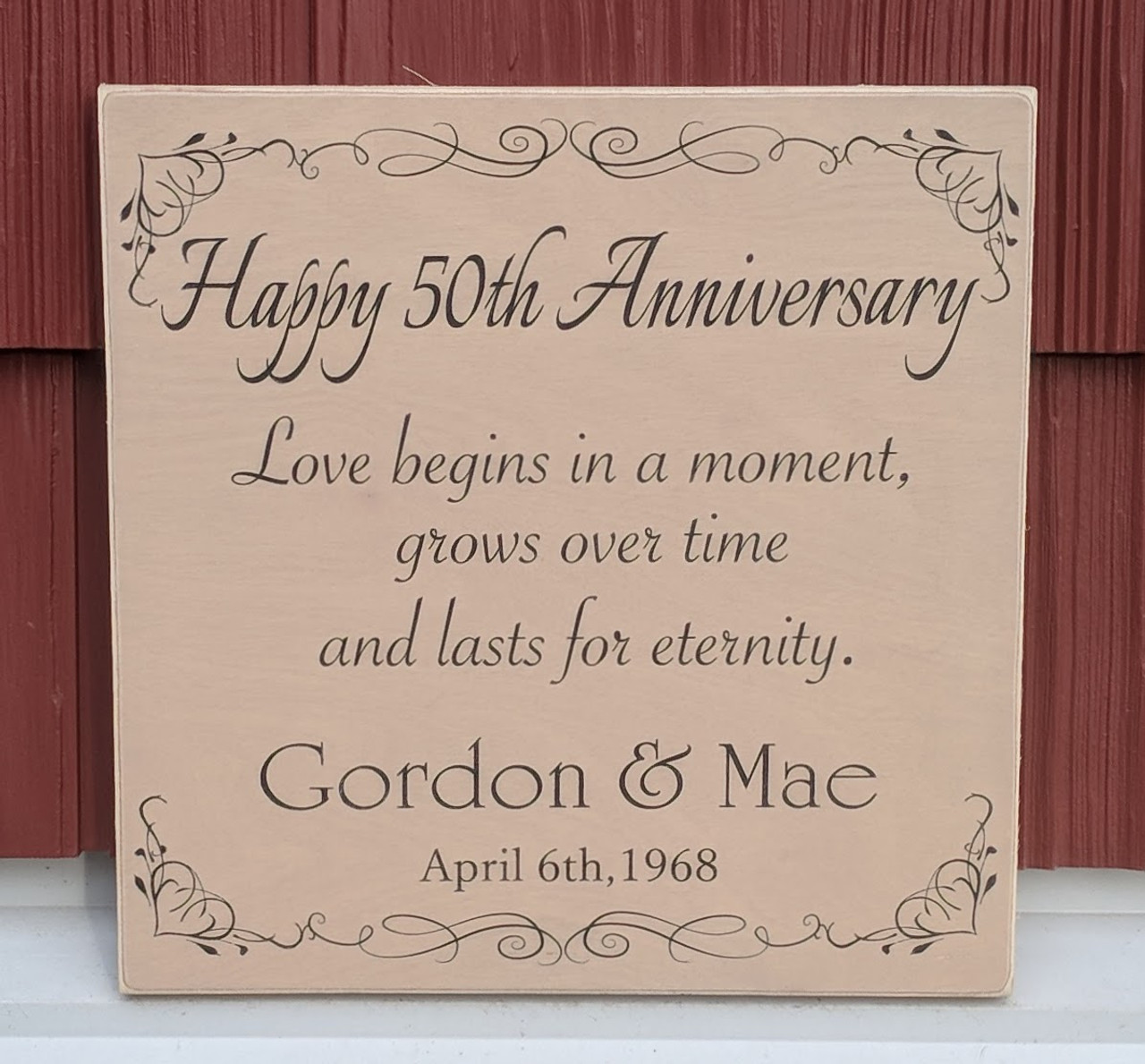 Custom Anniversary Wood Sign