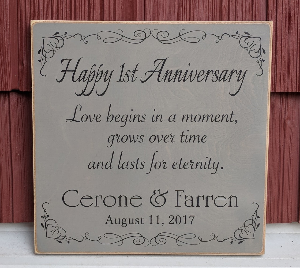 Personalized Anniversary Wood Sign