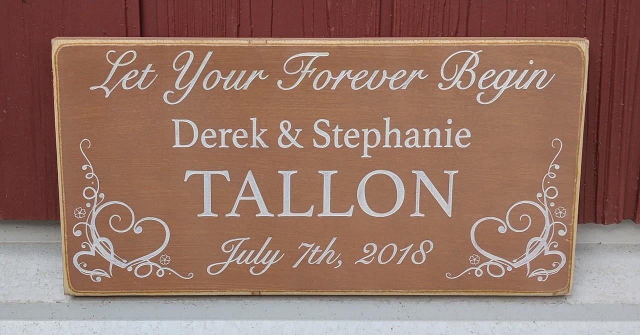 Let Your Forever Begin Sign