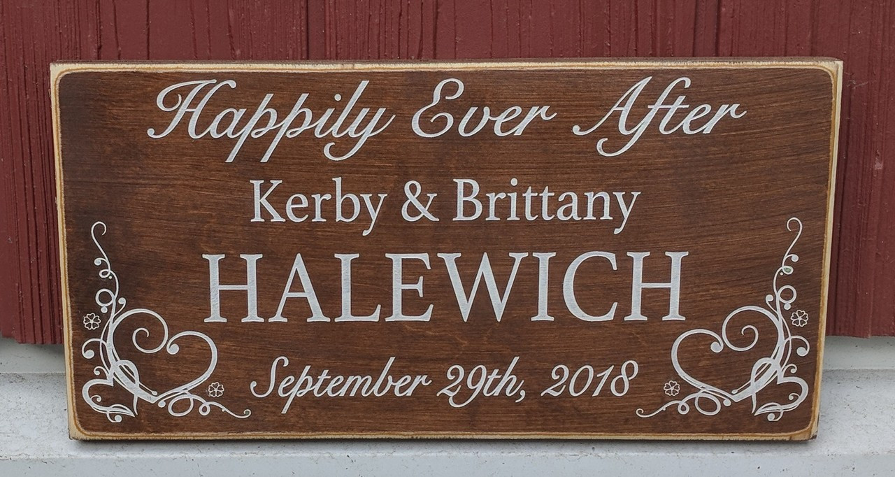 Happily Ever After personalized sign