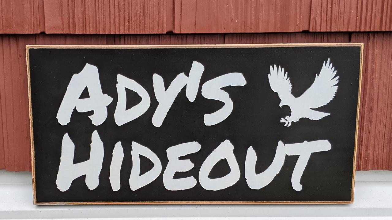 Custom outdoor wood sign