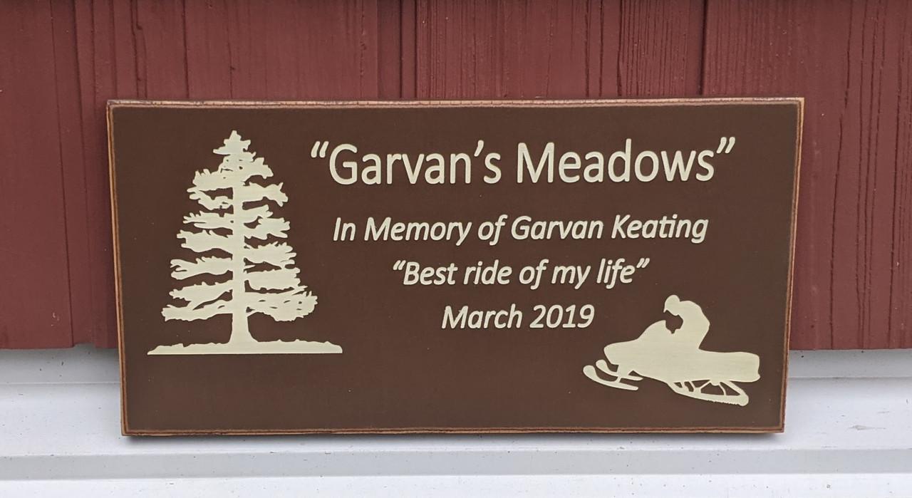 Outdoor Memorial Sign