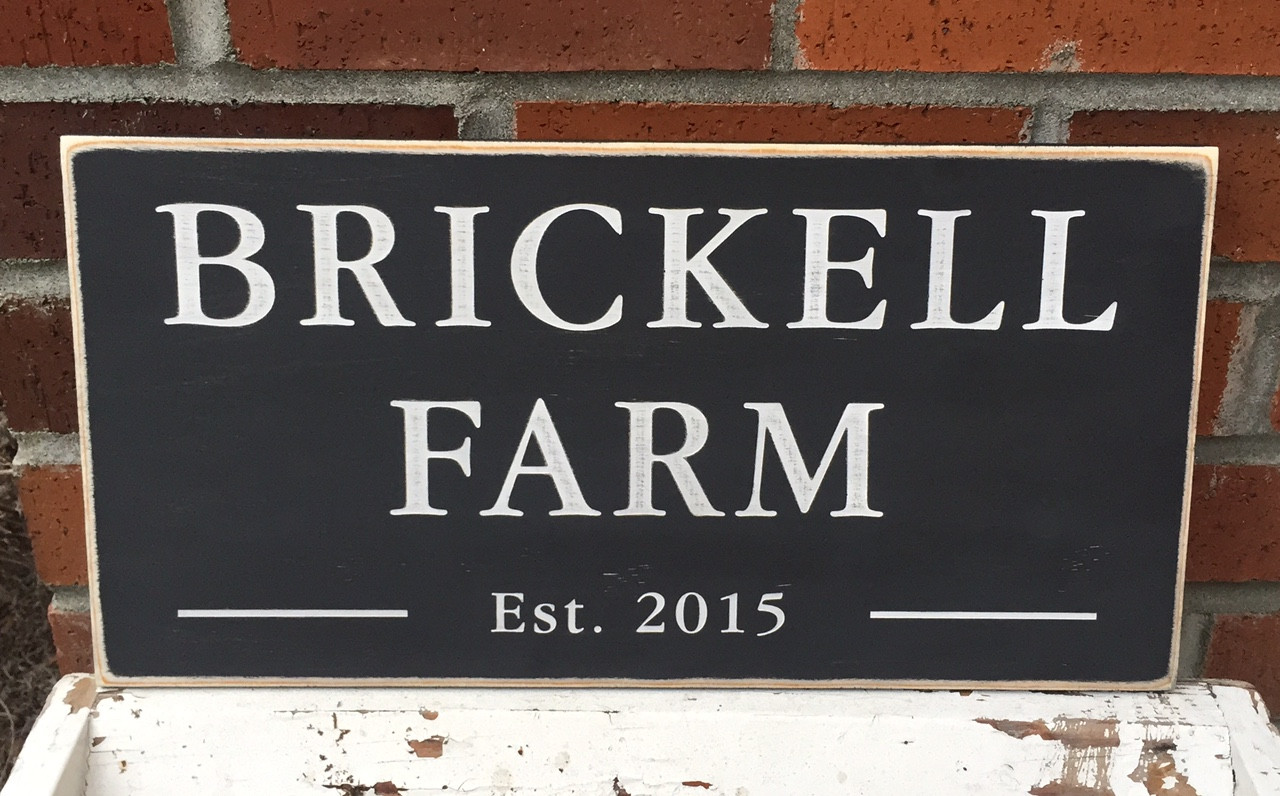 Brickell Farm Sign