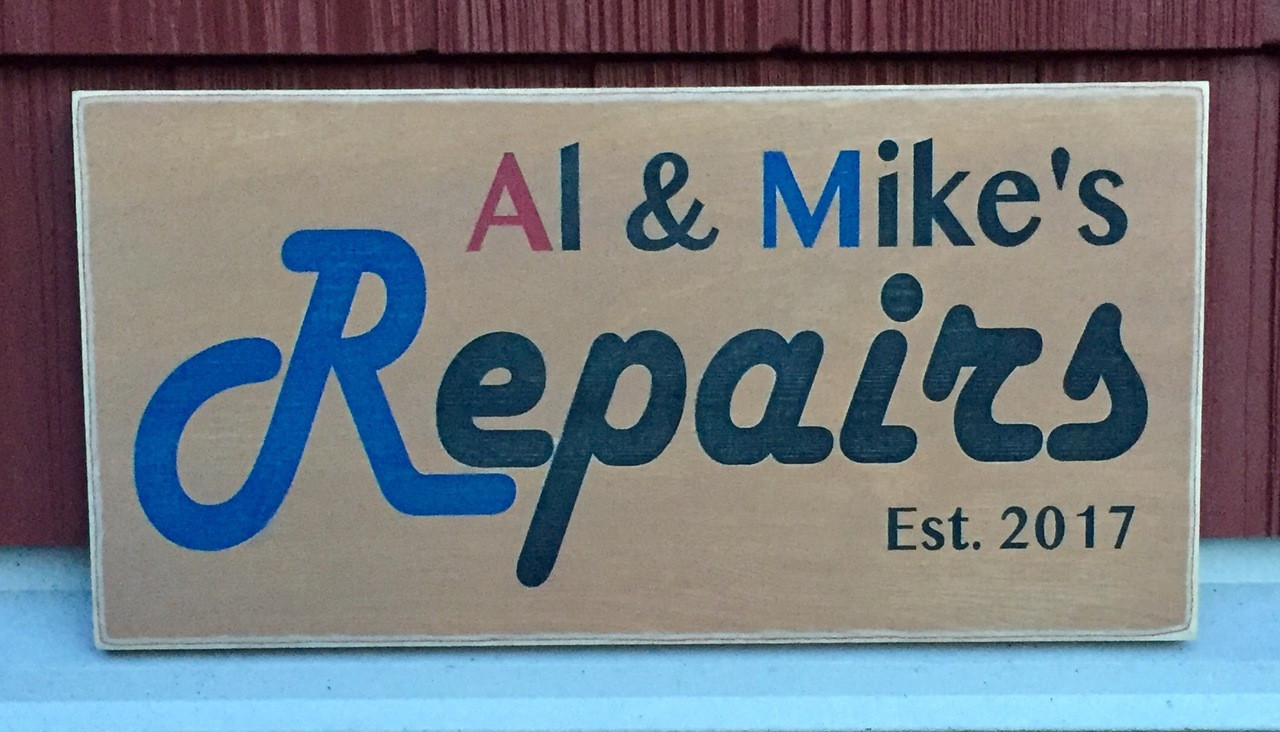 Business Sign - Al & Mike's Repairs