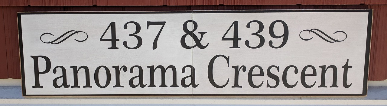 Outdoor address sign - two 8x16 signs