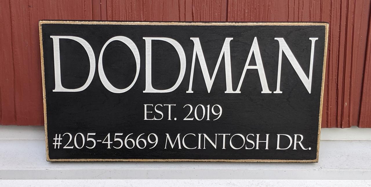 Custom Family Outdoor Address Sign