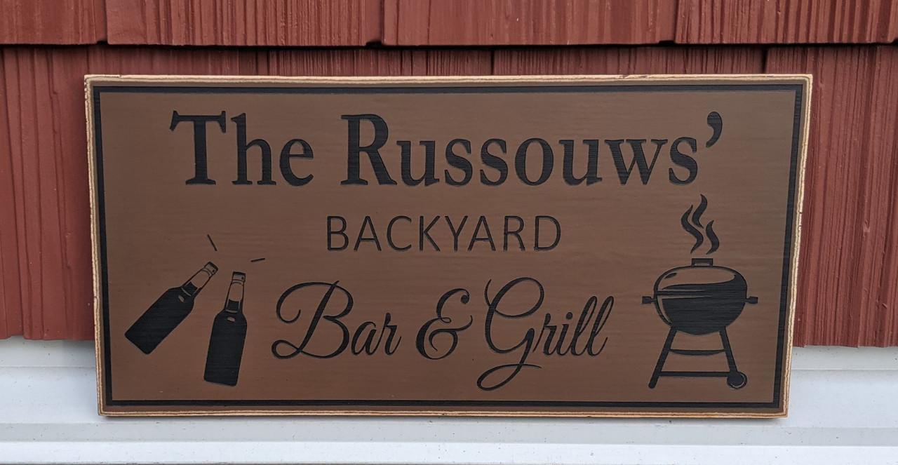 Backyard sign