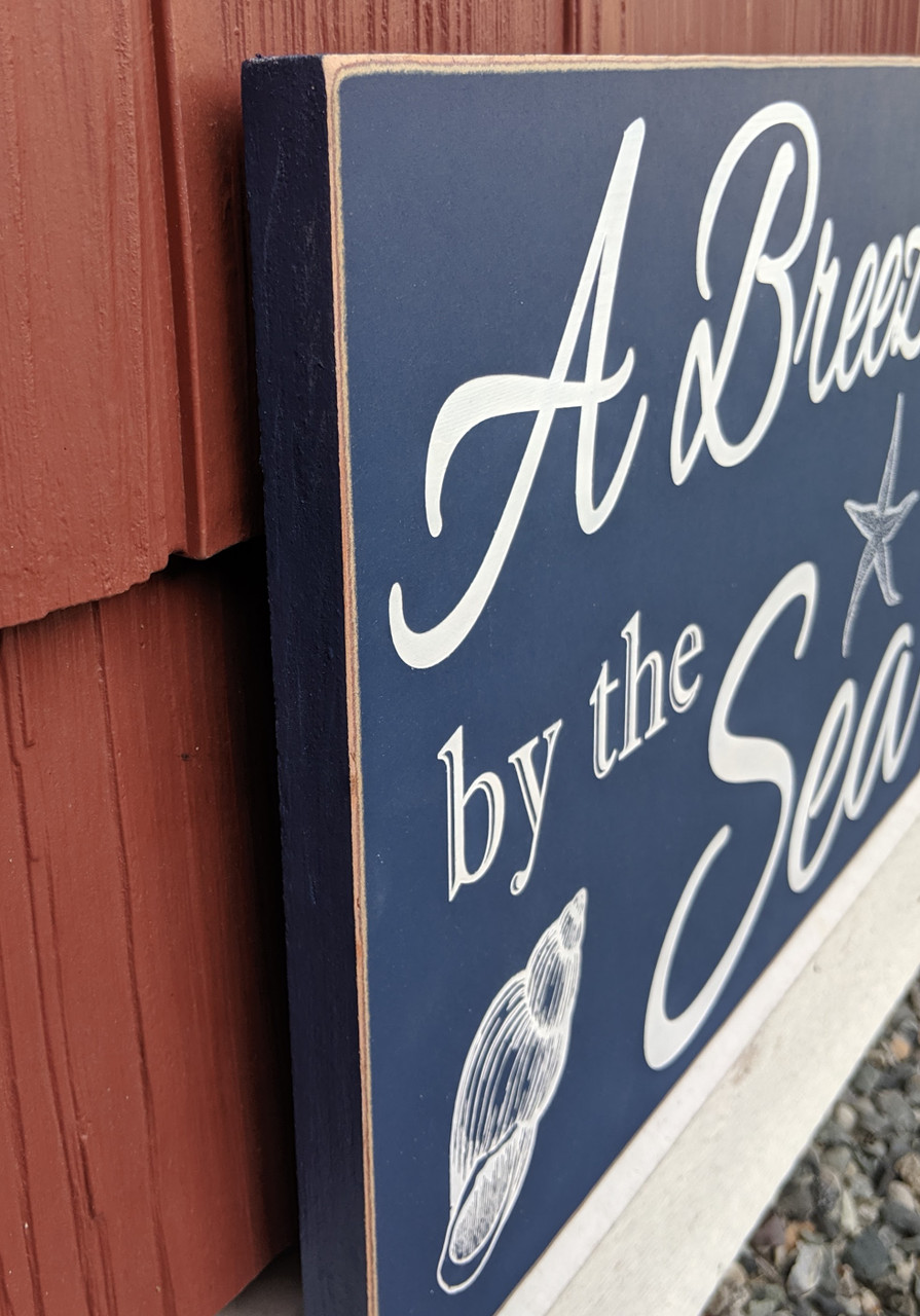 Outdoor cottage sign - side view