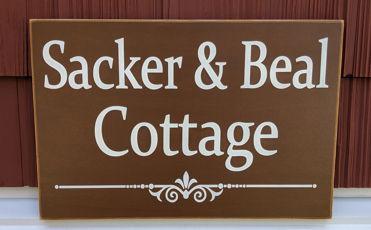 Custom outdoor cottage sign