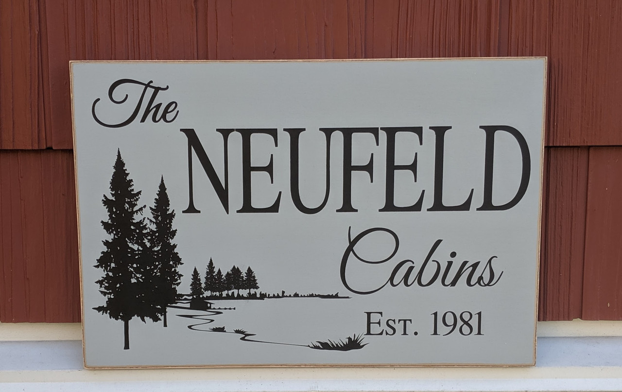 Family Cabin Outdoor Sign