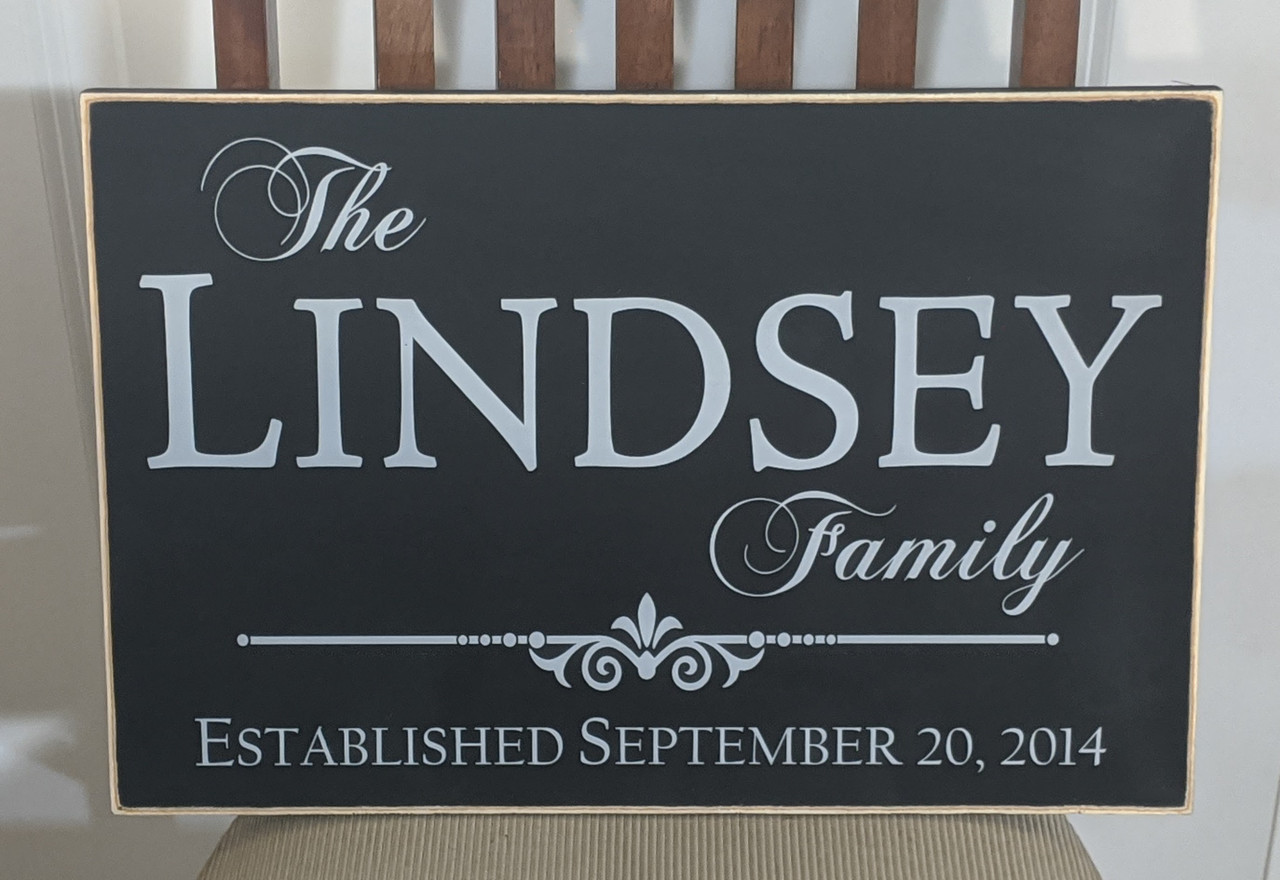 Outdoor Family Sign
