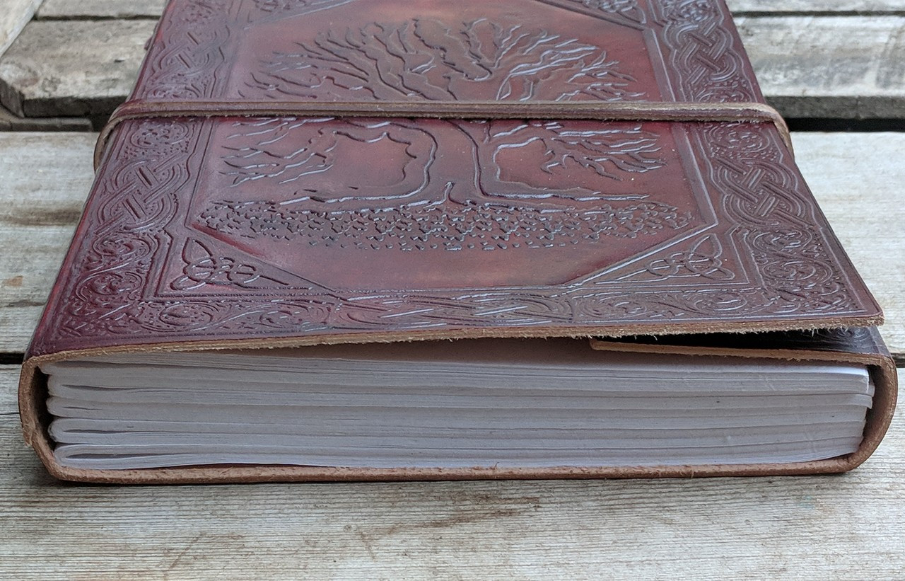 Celtic Tree leather journal