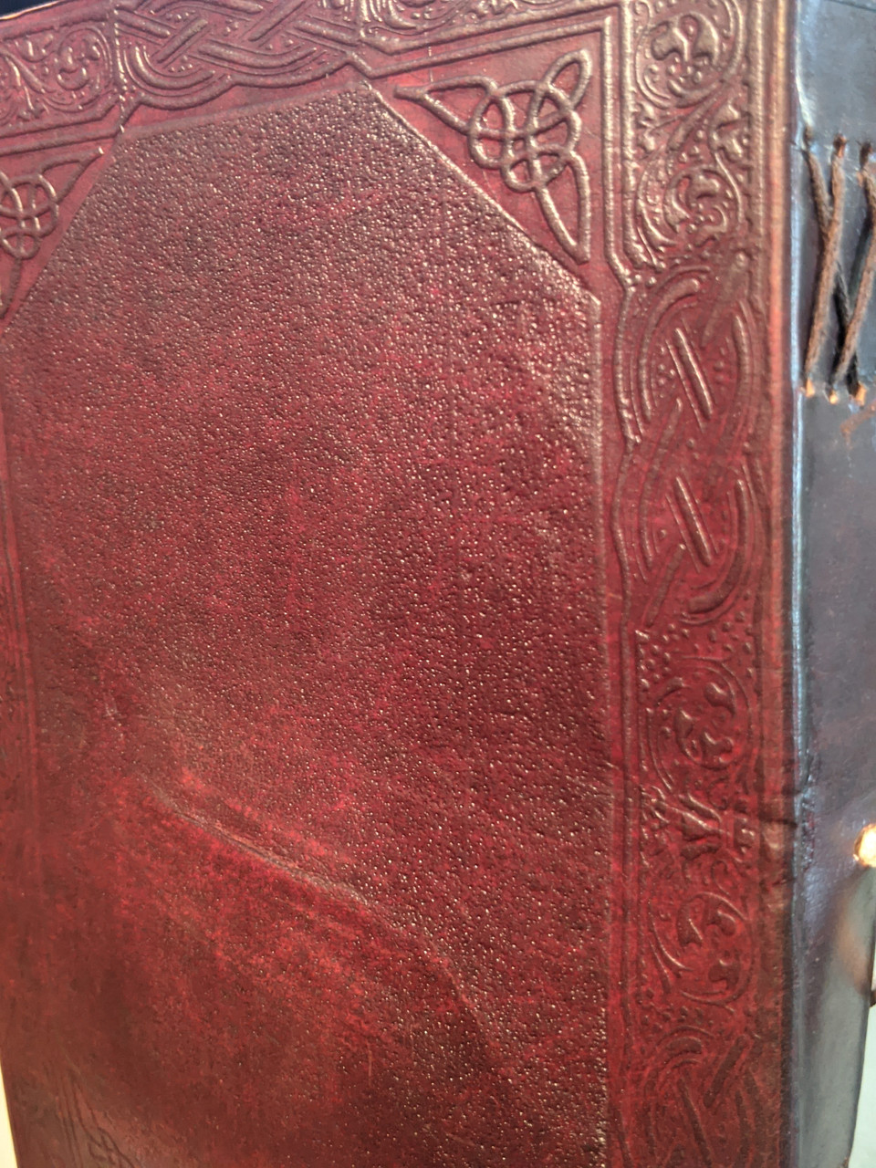 Rustic Celtic Cross Leather Journal 10 x 7