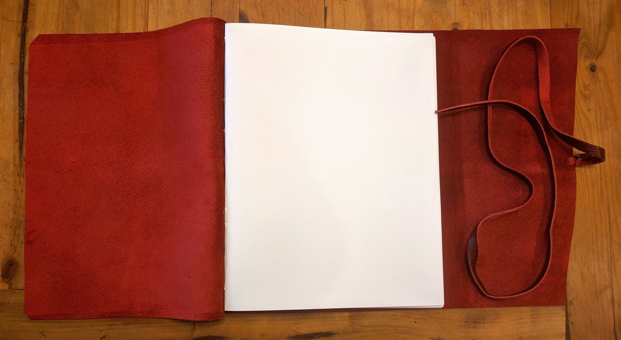 "Blank Archival Paper inside Spellbinding Journals - Venetian Style Leather Journal - Large - 8.75"" x 11.5"""