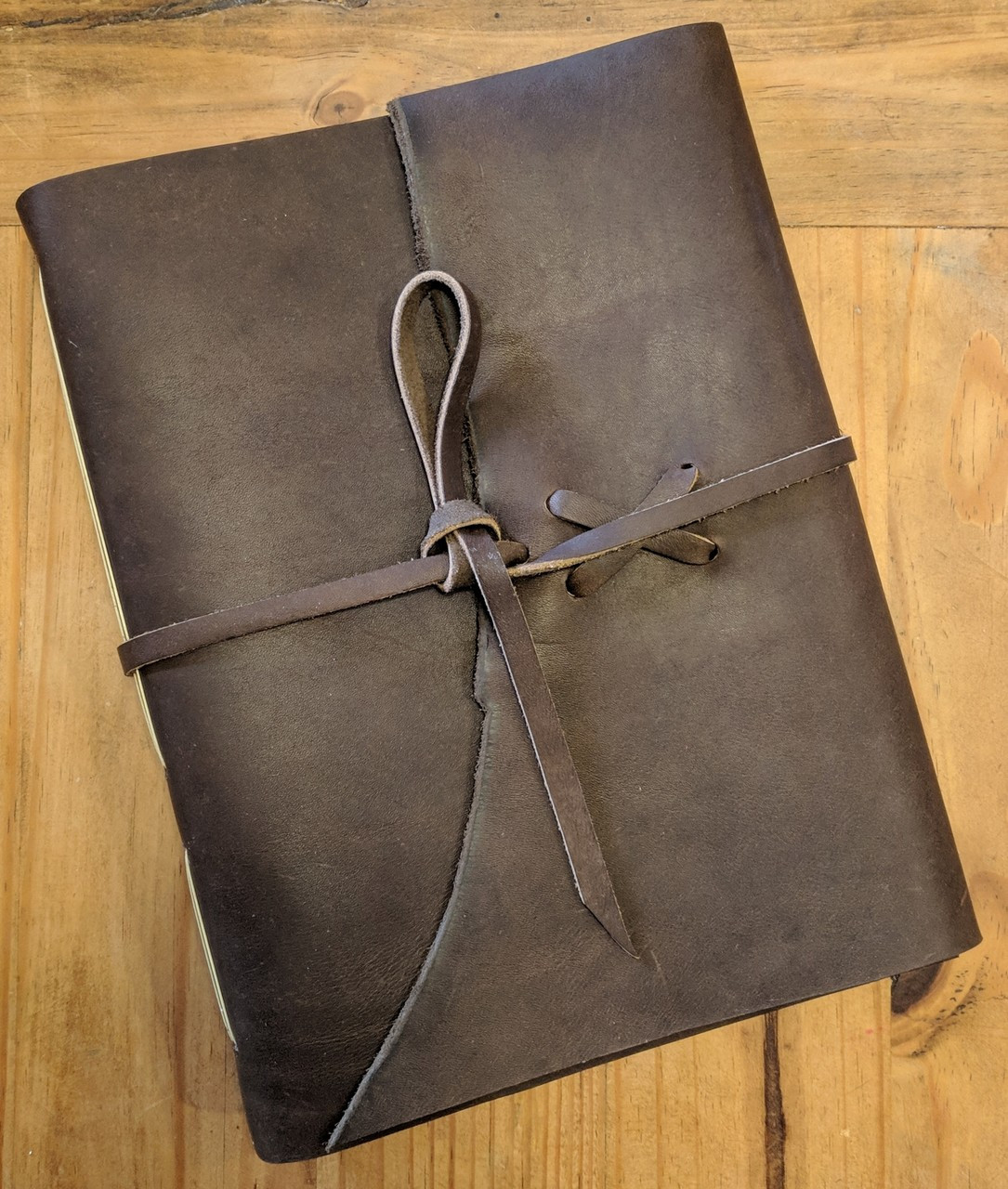 "Spellbinding Journals - Venetian Style Leather Journal - Large Brown - 8.75"" x 11.5"""