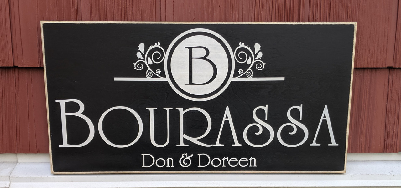 Outdoor Family Name Sign