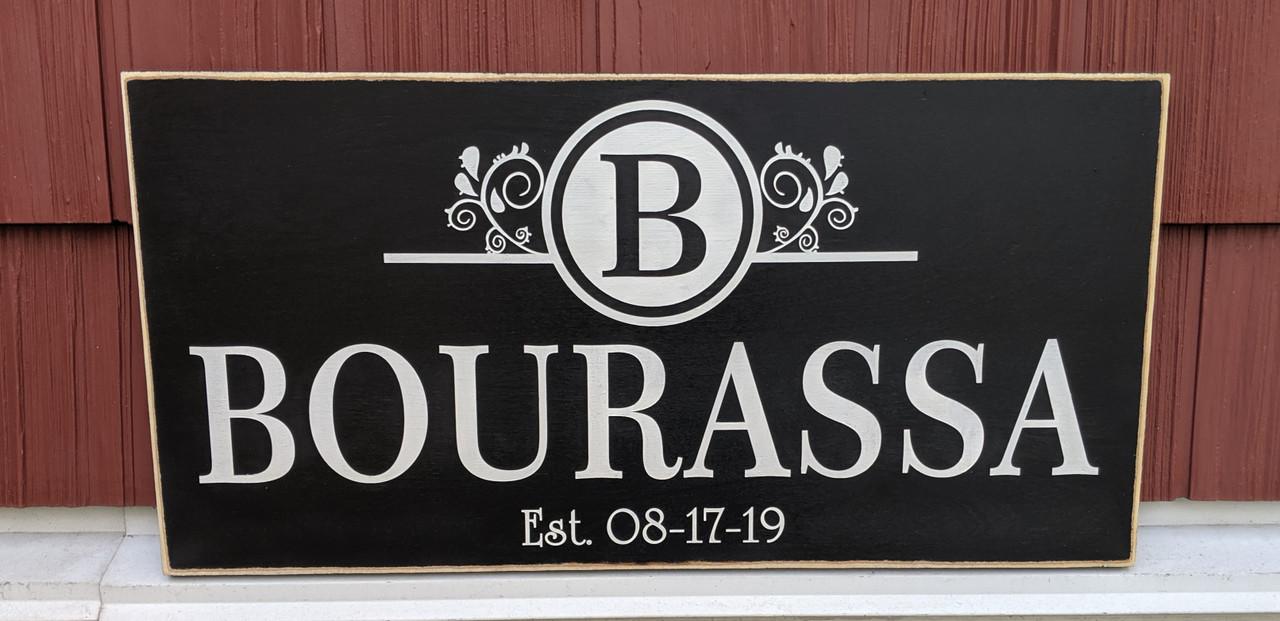 Exterior Family Name Sign