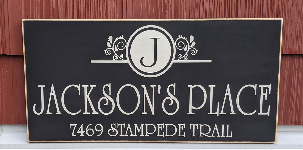Outdoor Family Address Sign