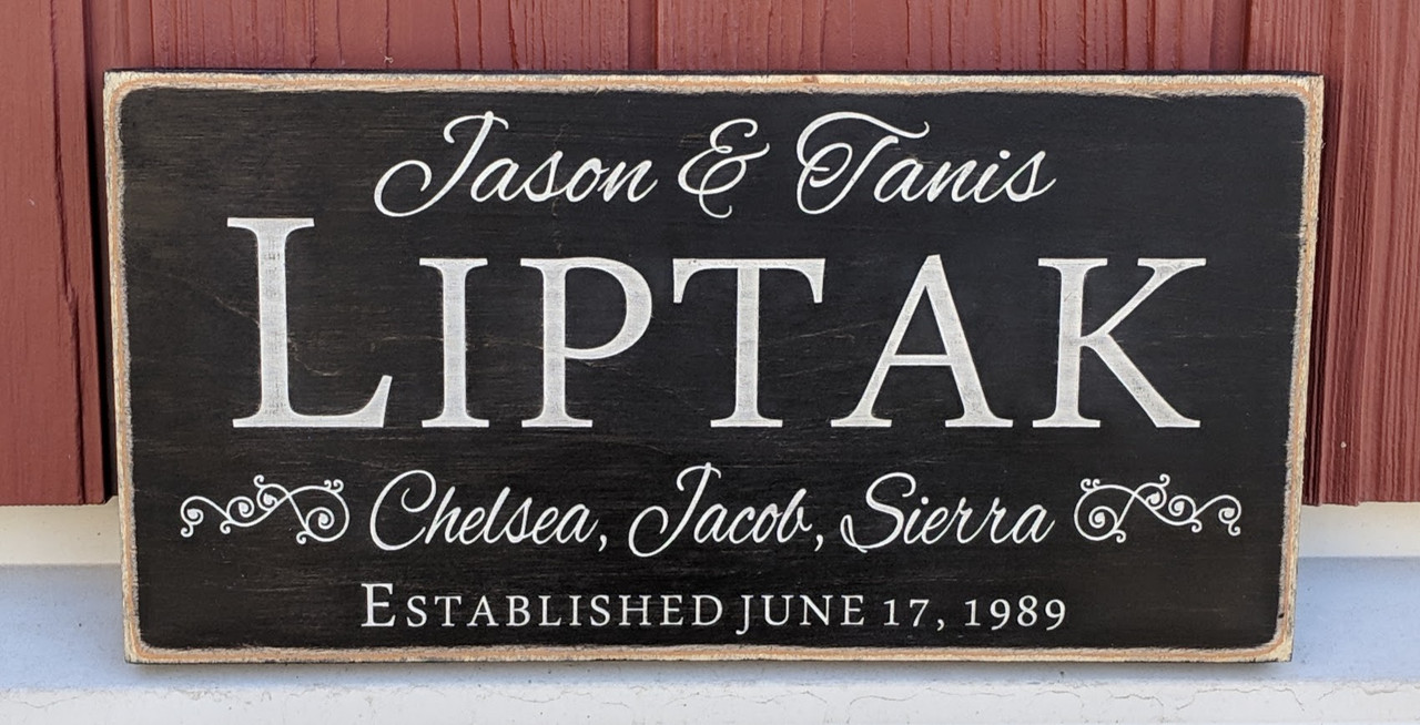Farm House Family Name Sign with Established Date
