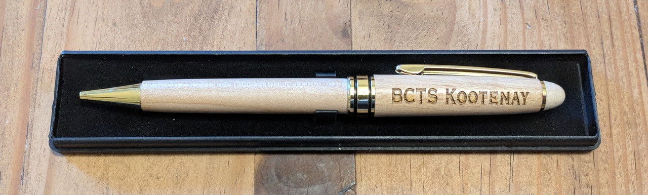 personalized maple mechanical pencil