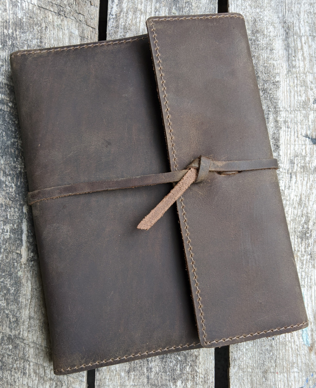 Leather Writers Log notebook refillable journal