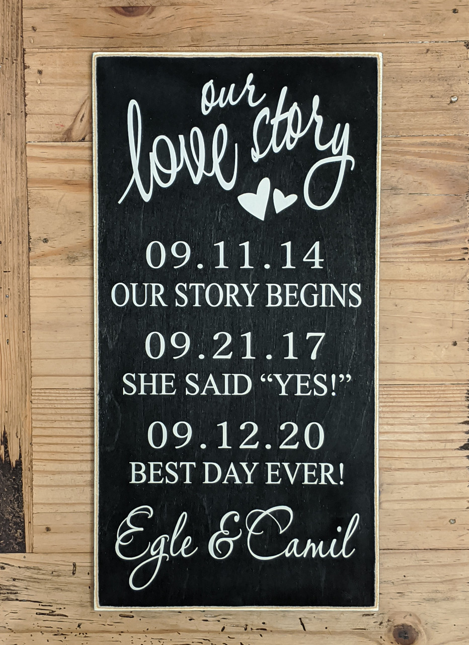 Our Love Story - Our Story Begins - She Said Yes - Best Day Ever
