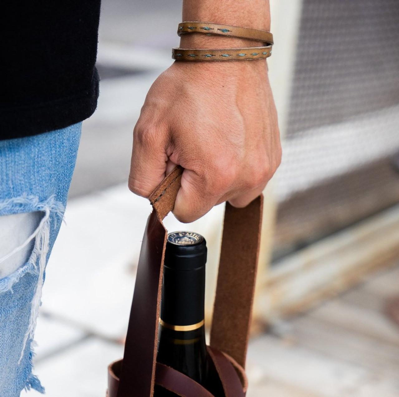 Napa Wine Tote - handle