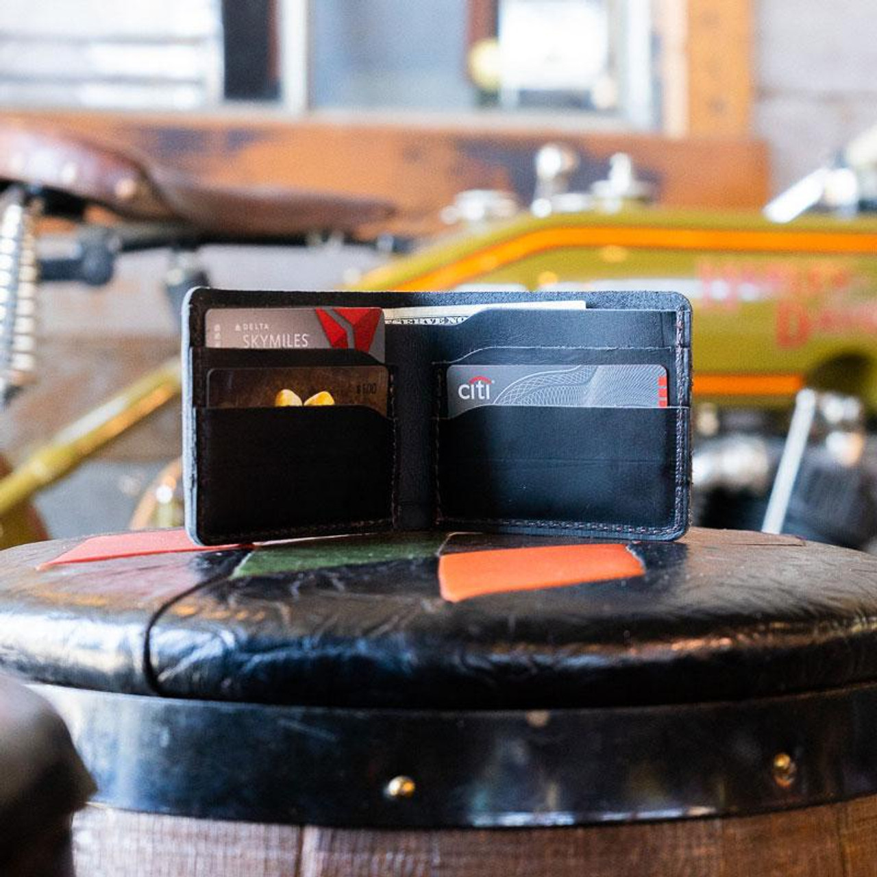 Lifestyle view of Rustico Knox Bifold Leather Wallet