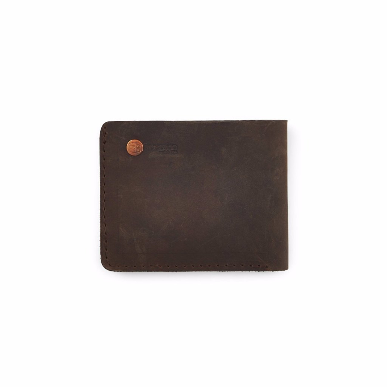 Knox Bifold Leather Wallet - Dark Brown - by Rustico