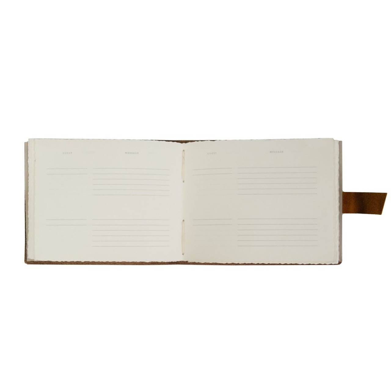 Templated Pages inside Rustico Leather Guest Book - Dark Brown